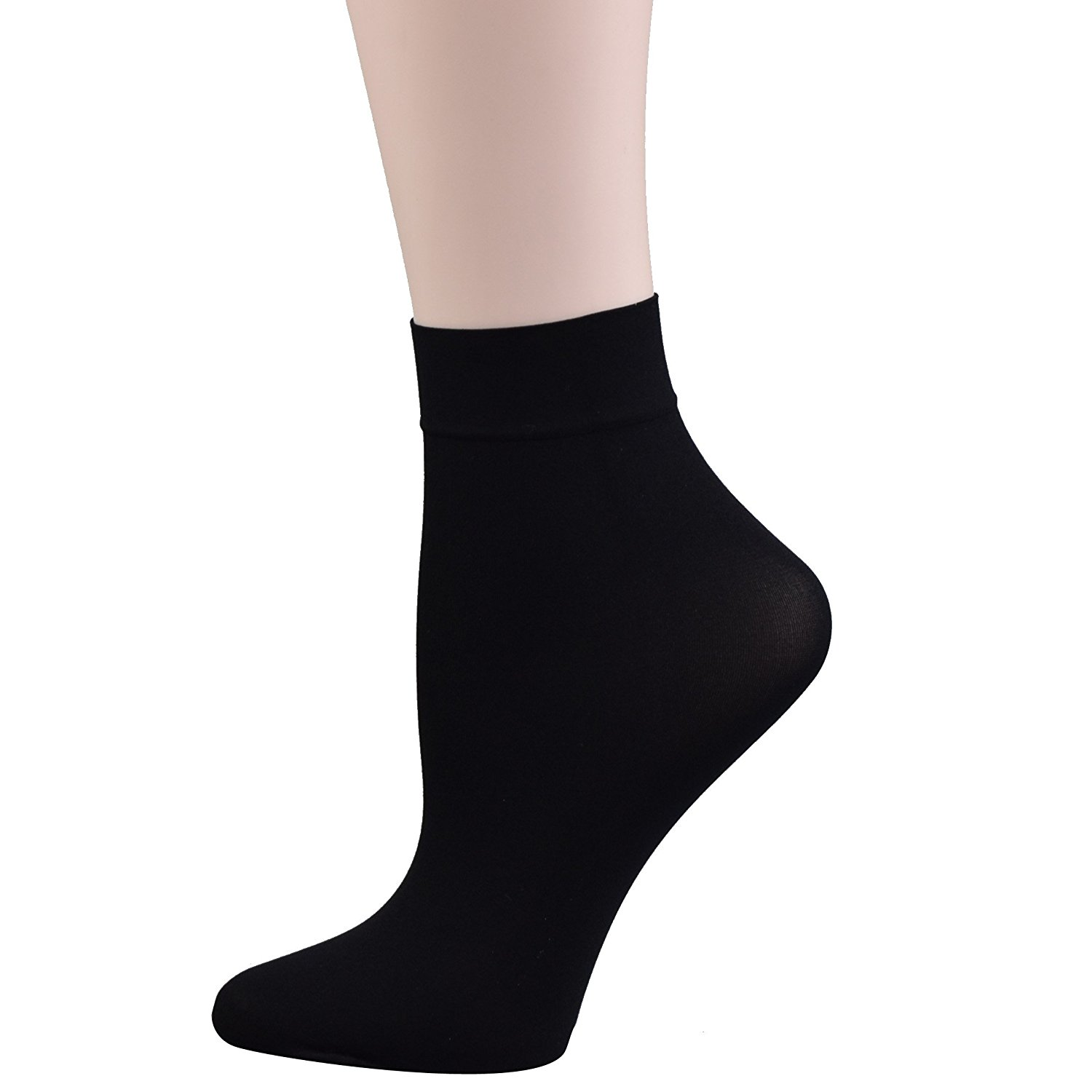 e4a33c23b Get Quotations · Fitu Women's 10-12 Pairs Nylon Ankle High Tights Hosiery  Socks