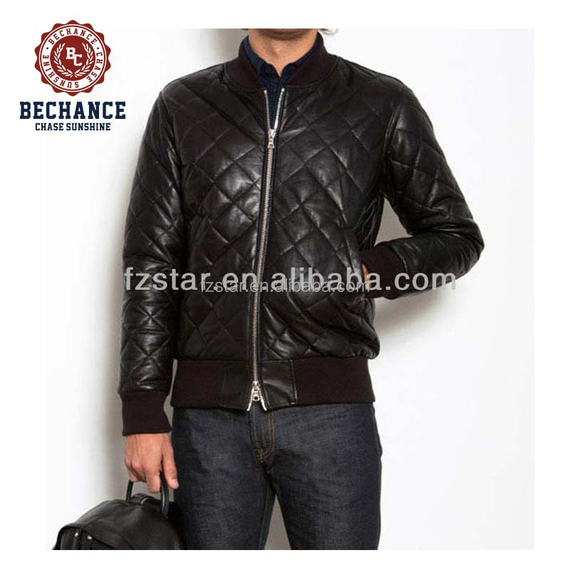 Mens Diamond Quilted Leather Jacket Ae1460 Buy Diamond Quilted