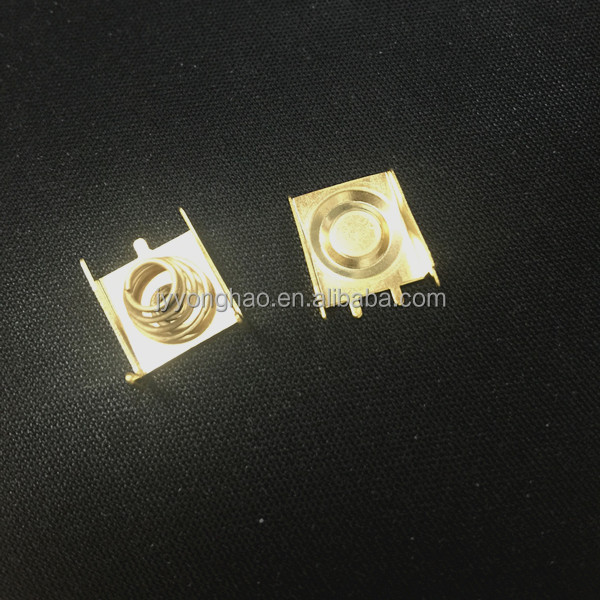 OEM Electrical copper spring clips Stamping sheet metal part