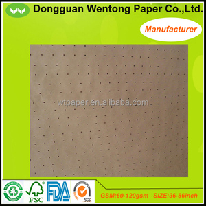 High quality brown round hole punching kraft paper for apparel factory