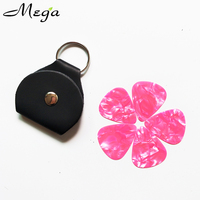 PU Leather Key Chain Guitar Picks Holder bag soft Case