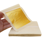 Europe Sheets Metal 100 Sheets 9.33 X 9.33 Cm Facial Mask Drink Cake Baking Food Decoration Genuine Chinese Edible 24K Gold Leaf Foil Paper Sheets