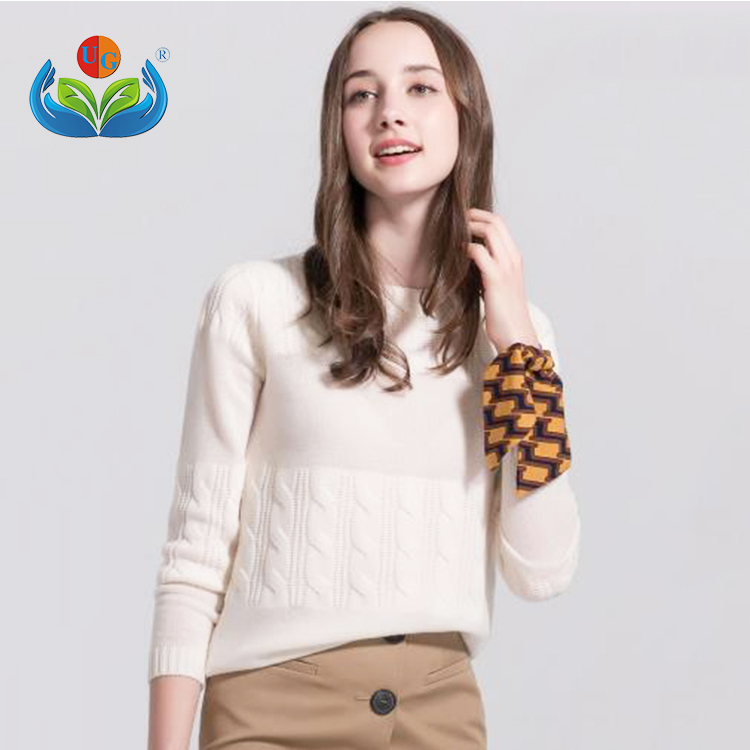 Cashmere sweater winter new women's bottom knitting slim edition long sleeve o-neck sweater women