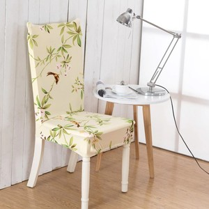 Floral Printing Chair Covers Spandex Elastic Chair Covers Anti-dirty Dining Chair Cover Case for Banquet Party