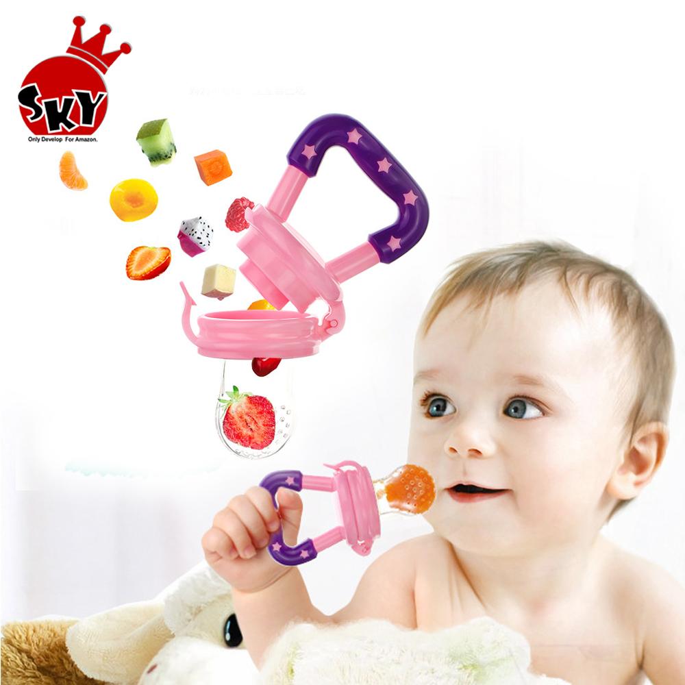 Baby Nipple Feeding Safe Milk Feeder For Baby Pacifier Bottles Nipple Fresh Fruit Food Teat baby Nibbler Feeder