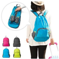 Custom the most popular foldable canvas backpack for teenagers and students