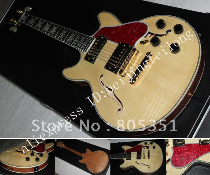 musical instruments very beautiful hollow body natural color electric guitar in guitar from. Black Bedroom Furniture Sets. Home Design Ideas