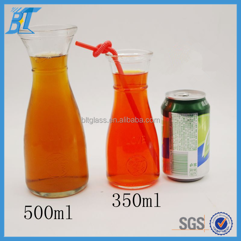 Beverage store use wide mouth 12oz 16oz clear empty ice glass milk tea bottle bubble tea cup