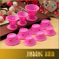 New Fashion Flexible Hair Rollers 10pcs DIY Silicone Hair Roller For Making Curl Style