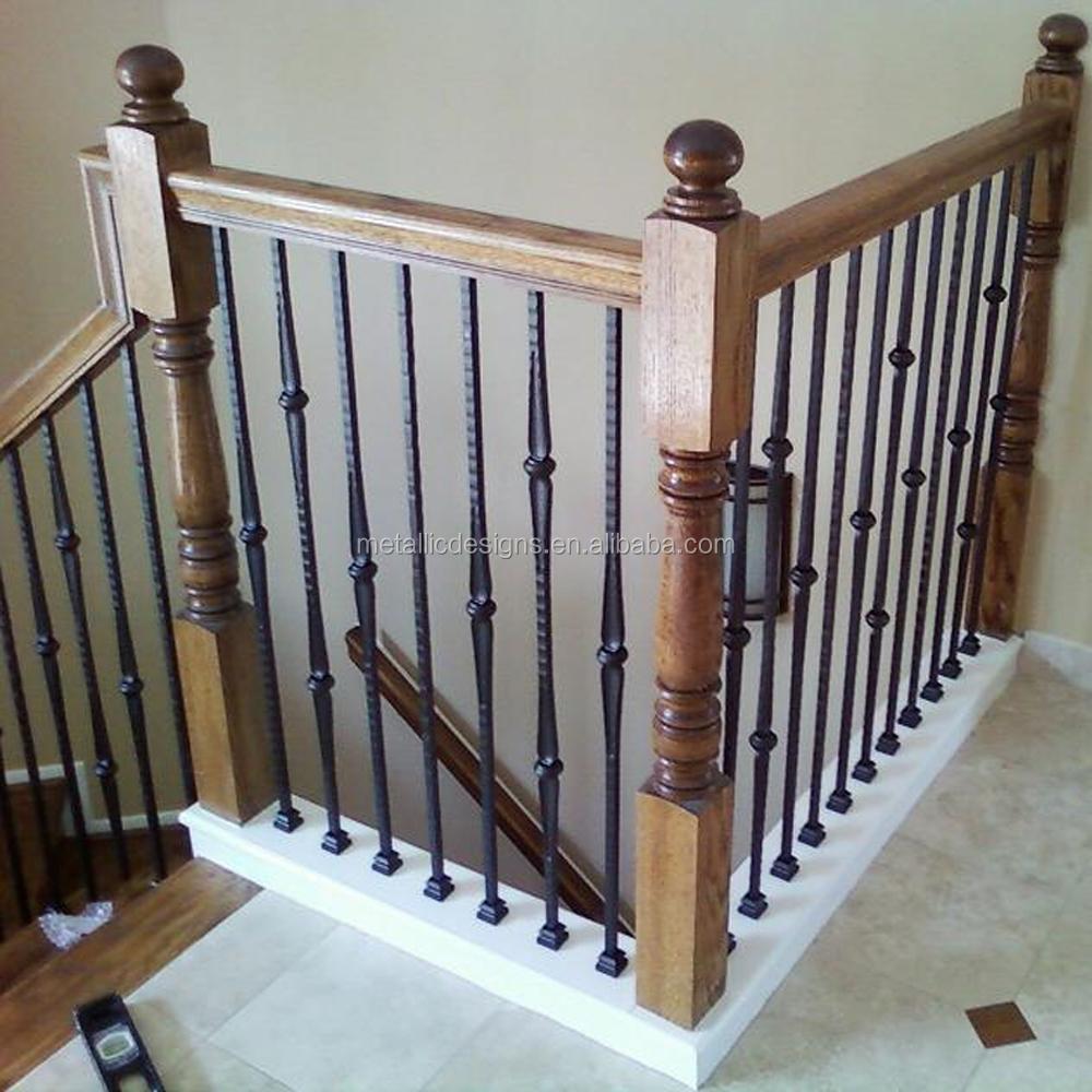 Indoor Stair Railing Iron Baers Custom Wrought Railings