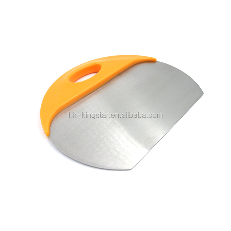 Stainless Steel baking Cutting Knife pizza Dough Cutter Powder Table Scraper