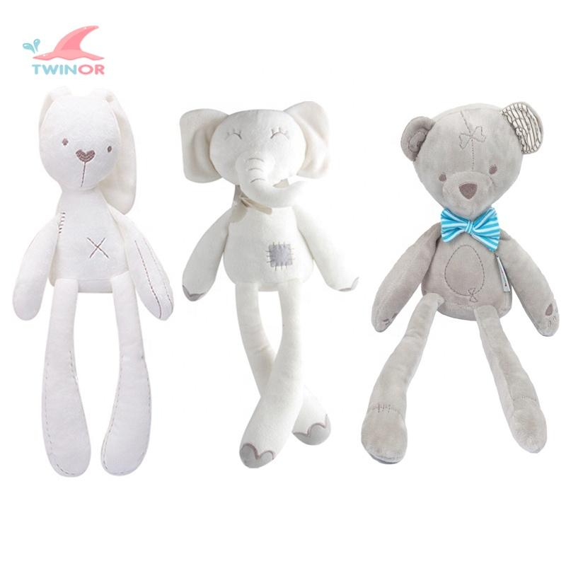 Fábrica venta al por mayor de encargo apaciguar juguetes de bebé juguetes de peluche