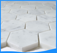 Yixing white marble mosaic tiles pattern stone decorative wall panels