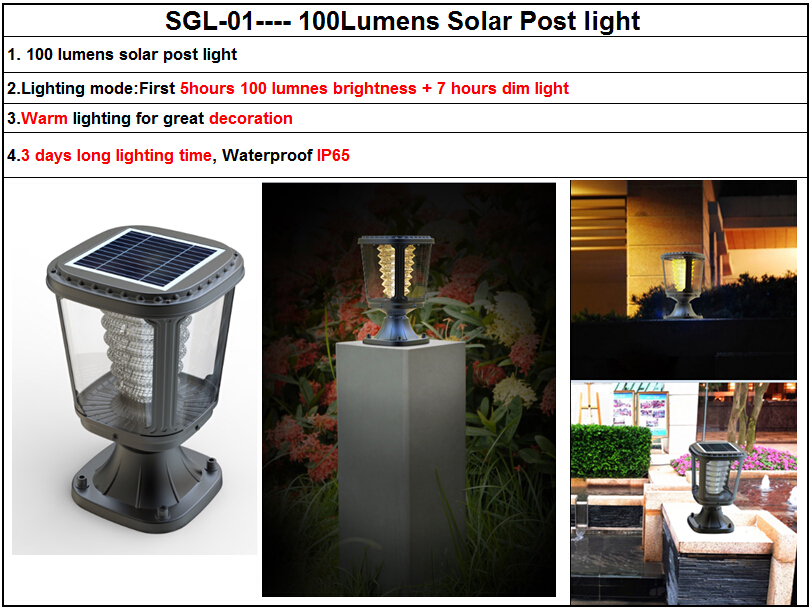 Hot Ing Solar Pillar Light Gate Lights