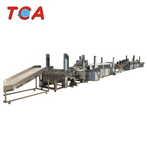 Automatic potato french fries full production line large capacity Frozen french fries production line For Sale
