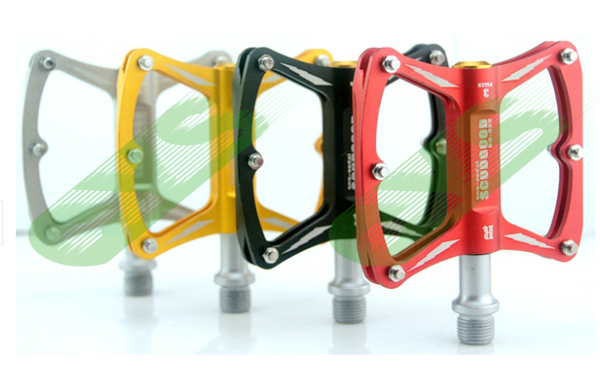 970a88bba22 Get Quotations · 3 bearing Mountain Road BMX Bike Bicycle Pedals ultralight  Alloy Pedals titanium gold red