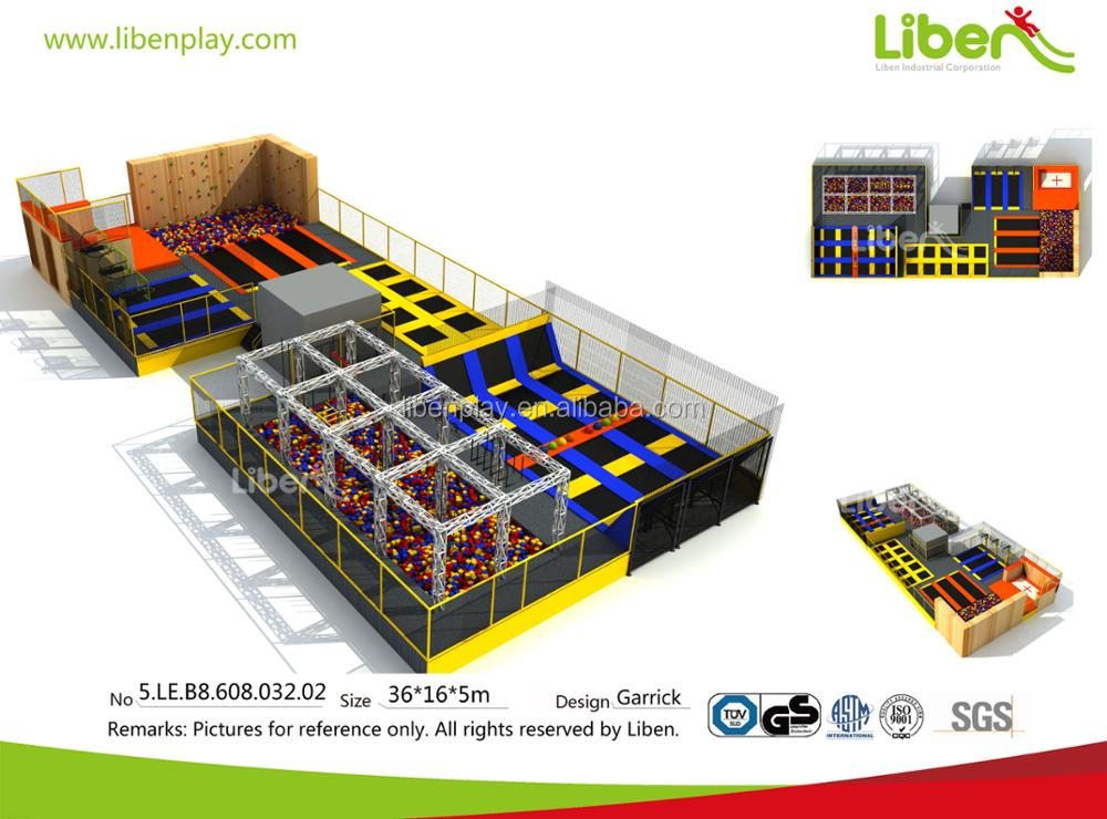 5.LE.B8.608.032.02 commercial ninja course foam pit kids jumping indoor trampoline park