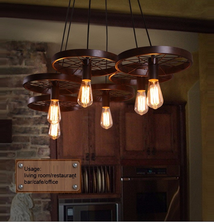retro lighting. Industrial Steampunk Retro Lighting Castle Pendant Lamp /clothing Shop/dinning Room Medieval Chandelier R