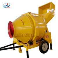 Towable diesel engine drum paddle gravity mixing type concrete mixer