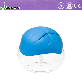 water based Leaf cover air purifier with LED lights aroma diffuser