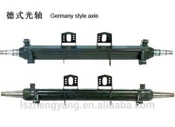 Semi Truck Trailer Axle Tube Of German Type Axle Beam