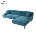 Cheap living room furniture sofa set l shape couch