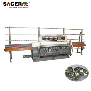 Glass mirror grinding beveling edging polishing machine