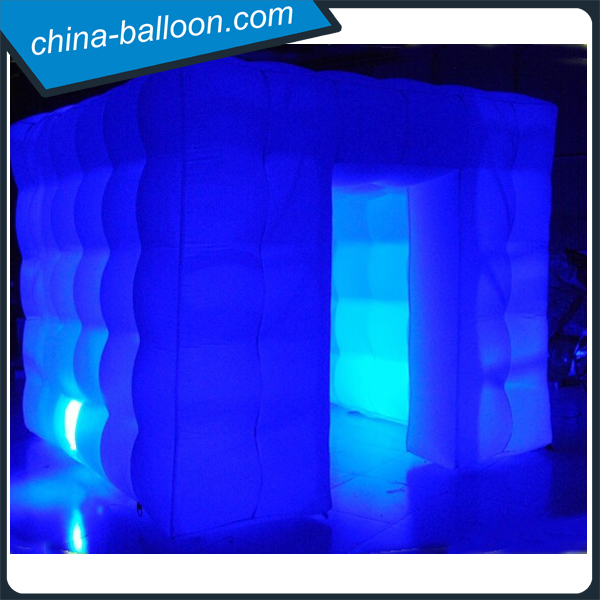 color changeing portable led inflatable tent photo booth for charming photo