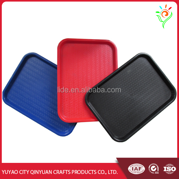 Large shallow plastic fast food trays, plastic tray in food grade