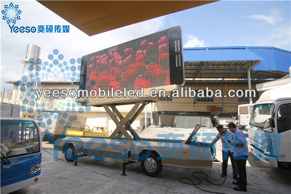 YEESO Foldable LED Trailer YES-T12 Mobile Commercial Vehicle with High Definition Outdoor LED Screen.