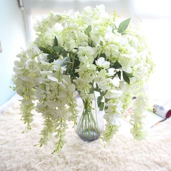 Zero table centerpieces wisteria silk flowers artificial decoration zero table centerpieces wisteria silk flowers artificial decoration hanging silk flowers mightylinksfo