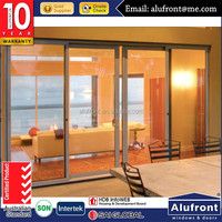 sound proof Australia AS2047 standard aluminium international grade glasslift & sliding door for living room