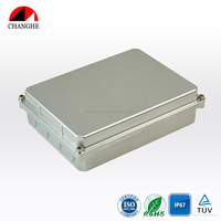 CHANGHE IP65 Electrical Control Box Die Cast Hinged Aluminum Enclosure 250x202x79mm