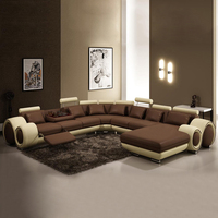 Genuine Leather Big Couch 7 Seater Sofa Sectional Living Room Home Furniture Combination Arc Sofa Set Corner sofas, sectionals