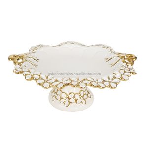 LUXURY PORCELAIN CERAMIC PLATE WITH STAND