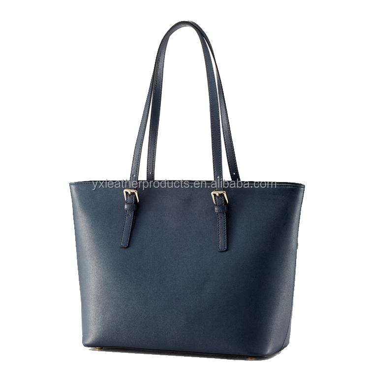 High quality genuine leather office bags for women new design handbags tote bags