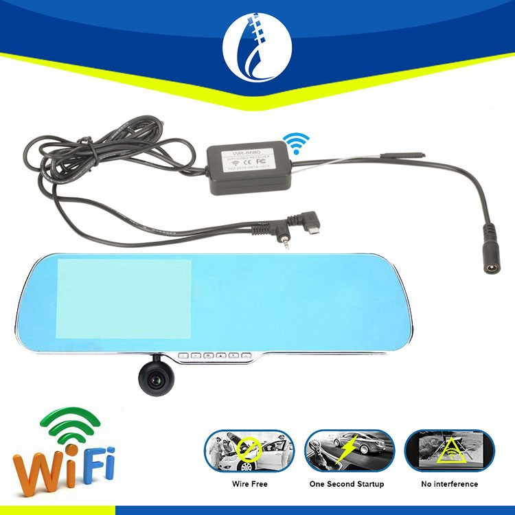 5inch <strong>LCD</strong> Android HD wireless wifi GPS DVR Rear View Mirror Car Dash Camera