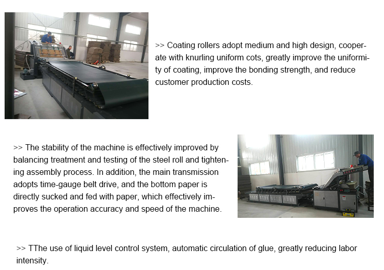 automatic corrugated paper board/cardboard/carton flute laminator/laminating machine