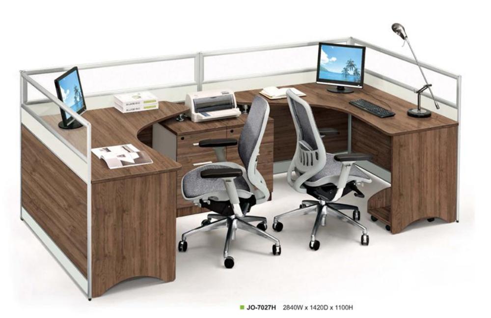 Personalizzato cabine per ufficio mobili per ufficio scrivania per 2