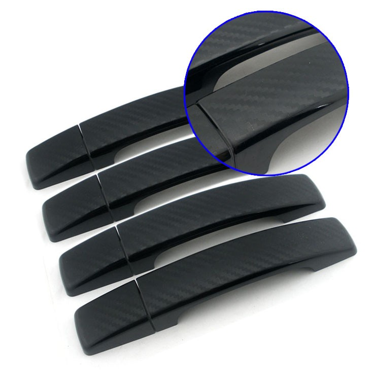 Matt black auto door accessories car door handle cover for freelander 2 body kit
