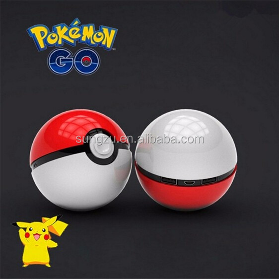 2016 Hot Pokemon Go power bank Portable Pokeball Power Bank 10000mAh with USB External