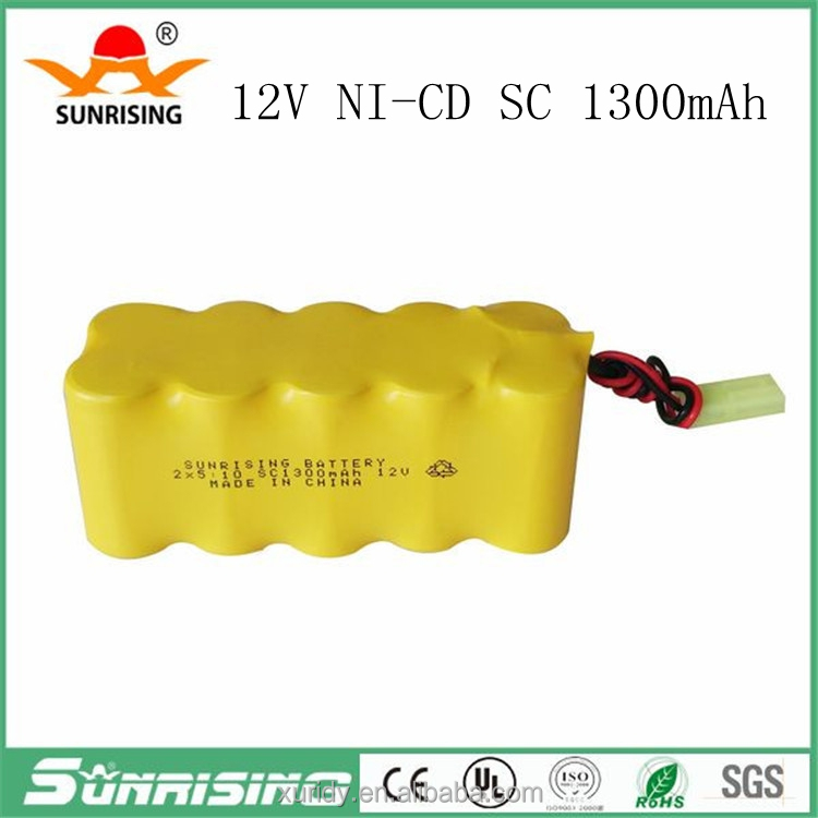 12V nicd sc 1300mah rechargeable battery
