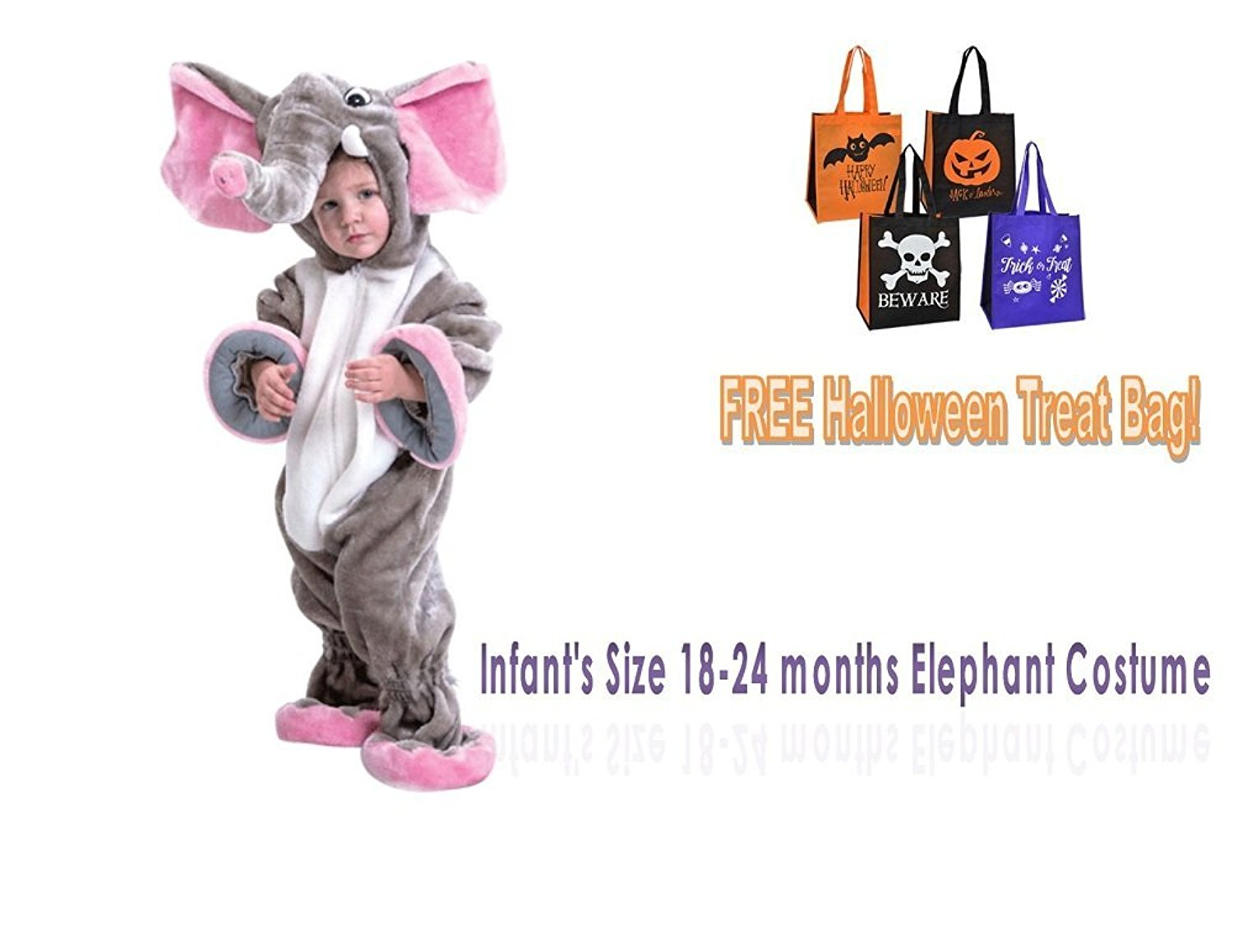 buy childs halloween costume elephant infants size 18-24 months