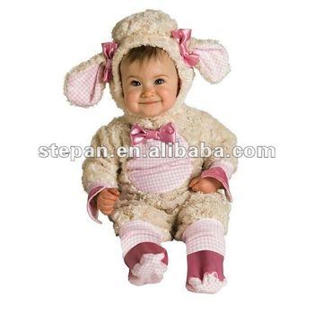 pink lamb baby infant animal costume tz 69099