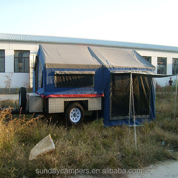 Australia Market Style Luxury Camping Off Road Hard Floor Camper Trailer Tent