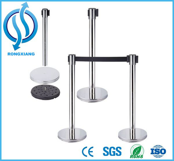Traffic and Crowd Control Barrier Exhibition Stanchion Retractable Belt Post