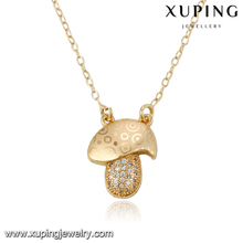 43084 Xuping fashion jewelery 2016 gold special design necklace with many zircon
