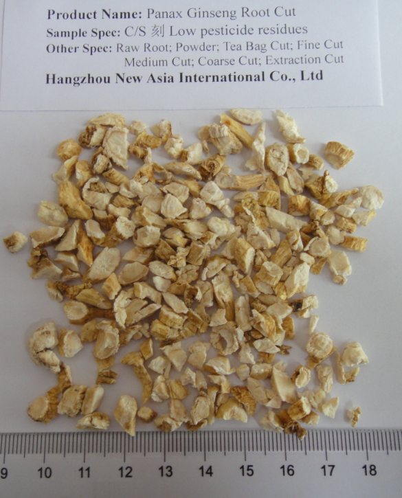 Low Pesticides Chinese Herb Medicine Dried Panax Ginseng Root Slices and Cut