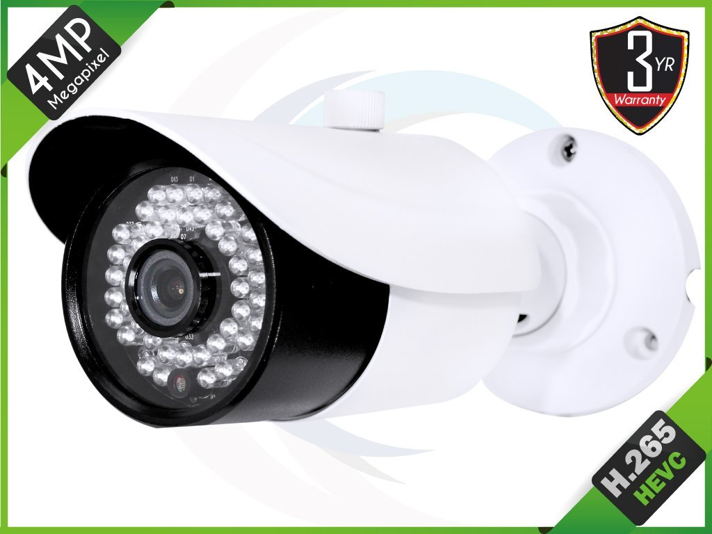 "HQ-Cam 1/3"" 4 MP CMOS HD H.265 Bullet Small Security Camera 2.8mm Fixed Lens Lens Day Night Vision 42IR LEDs Weatherproof Camera"