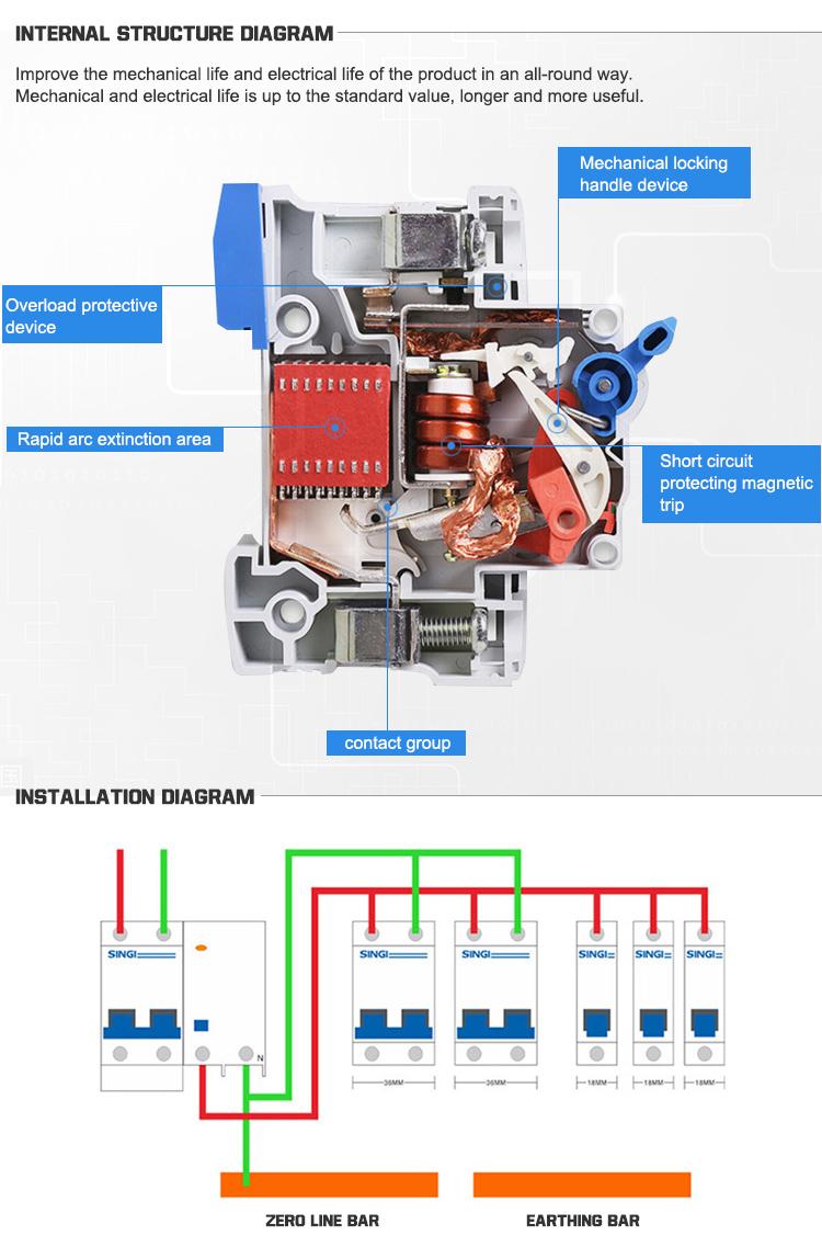 Un rayo 40kA dispositivo de protección contra sobretensiones SPD sobretensiones precio 4 polos